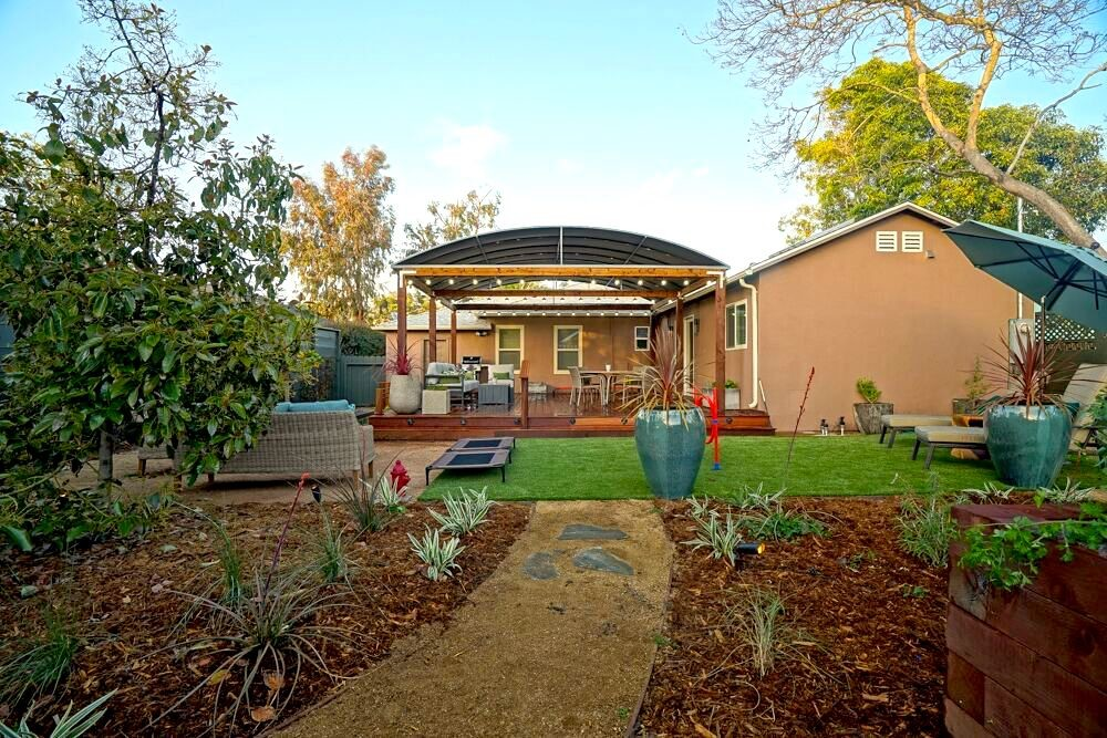 landscaper back yard